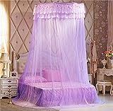 Unimall Kuppel Moskitonetz Mückenschutz Betthimmel Bett Vorhang Baldachinfür Doppelbetten, Lila