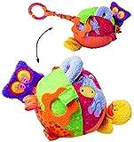 Unbekannt großer Activity Stoffball -  lustige Tiere  - Kuschel & Spiel & Motorikspielzeug - ab Geburt - für Baby´s & Kinder - Softball mit Spieleffekten - zum Aufhän..