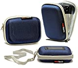 Navitech Blau Wasser wiederständige Harte Digital Kamera Tasche für das Canon Powershot A2500