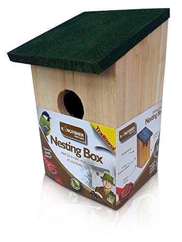 Cassetta nido artificiale in legno per uccelli selvatici