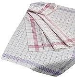 Geschirrtuch 10er Pack Küchentuch Küchenhandtuch 100% Baumwolle 50x70 cm (50 x 70 cm, blau-kariert)
