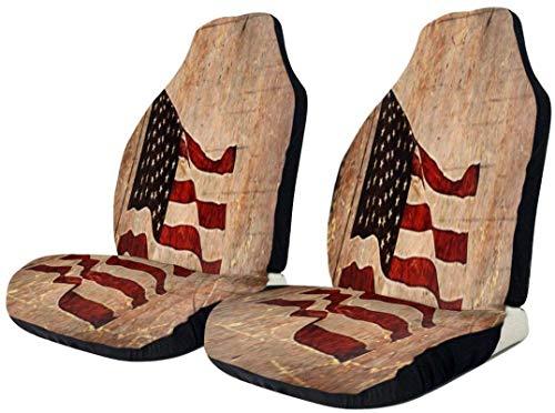 Vola bandiera americana vintage coprisedile auto impermeabile resistente seggiolino auto protezione universale confortevole seggiolini auto tappetino in poliestere cuscino a secco rapido