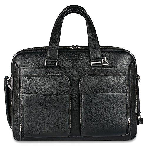 Piquadro Erweiterbar Computer Case mit iPad Air Fach Regenschirm Pocket, schwarz (schwarz) - CA2765MO/N