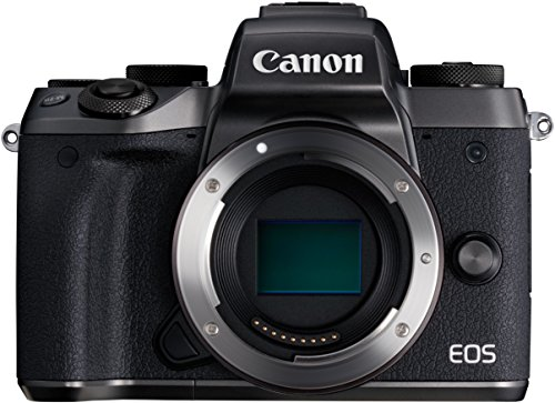 """Canon EOS M5 con Adaptador EF - Cámara sin espejo compacta de 24,2 MP (pantalla táctil de 3,2"""", procesamiento DIGIC, 14 bit RAW, 7 fps, Bluetooth, WiFi, NFC), negro - kit con cuerpo y adaptador EF incluido"""