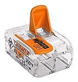 Wago WAG221342_BL50 Pack de 50 Bornes de connexion universelle tous conducteurs Type 221/2 entrées