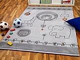 Lifestyle Kinderteppich Babywelt Grau in 3 Größen !!! Sofort Lieferbar !!!