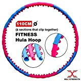 Max Strength Hula Hoop 8 Sections pour Exercices de Fitness Rose/Bleu 1,7 kg