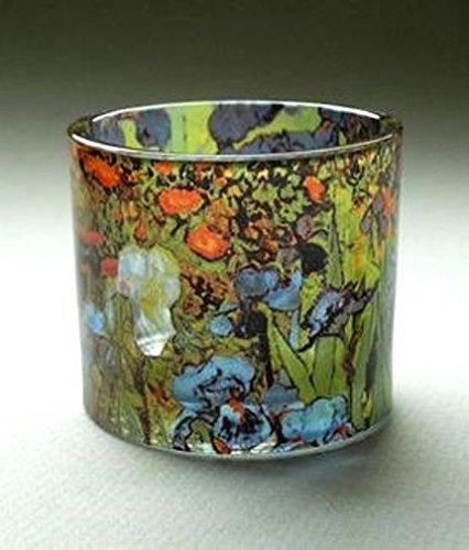 Museumsshop Teelichthalter Motiv Van Gogh Iris - Teelicht Glas -