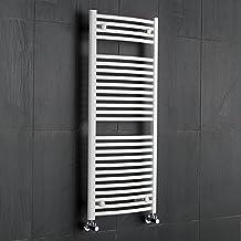 hudson reed radiador toallero curvo en acero blanco para bao cocina x