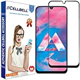 CELLBELL ® Full Glue Edge to Edge Tempered Glass Screen Protector with Installation Kit for Samsung Galaxy M30/A50/A30(Black)