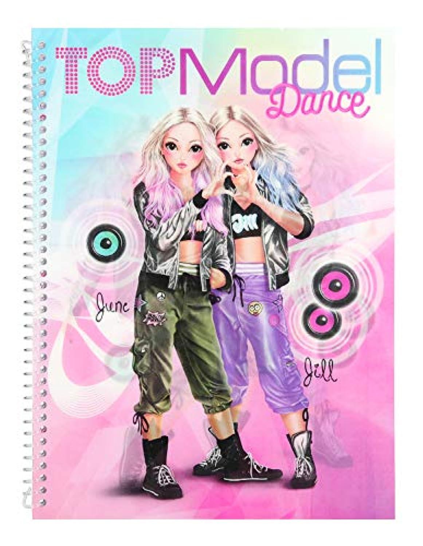 Depesche 10202 Livre De Coloriage Et Design Fun Dance Modele Top Multicolore
