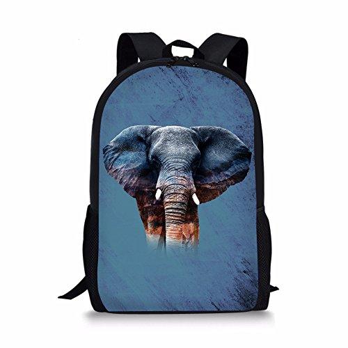 CHAQLIN Mochila escolar Azul elefante One_Size