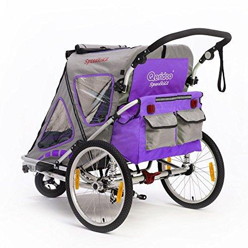 Qeridoo Q200A-Violet Speedkid2 Fahrradanhänger 2016, violett - 3
