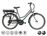 F.lli Schiano E- Light 1.0, Bicicletta elettrica Women's, Antracite, 26''
