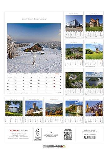 Thüringen 2018 - Bildkalender (24 x 34) - Landschaftskalender - 2