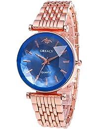 GREALY Reloj de Pulsera Cuarzo de Juego Correa para Mujer Reloj Strap de Banda Relojes de