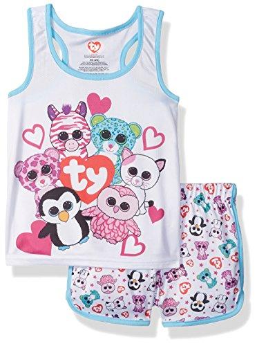 Intimo-Girls-Ty-Beanie-Boo-Sporty-Mesh-Pajama-Set