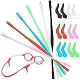 cococity Silikon Brillen Halter sport Brillenbügel Antirutsch Brillenband mit 6 Paar Ohr Griff Haken Brillenkordel- in Verschiedenen Farben