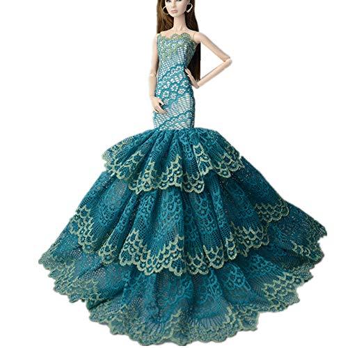 Stillshine AK20 Schöne und modische Handgefertigte Puppe Kleidung für 27-30cm Puppen / Kleid/Pyjama / Puppenzubehör Dress Up / Spitzenkleid -10