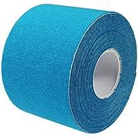 COM-FOUR® Kinesiotape, 5cm x 5m, hautfreundlich, elastisch, atmungsaktiv, wasserbeständig, türkis/blau preisvergleich bei billige-tabletten.eu