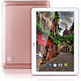 Hot 4G LTE 10.1Inch Tablette Octa Core 2560* 1600IPS RAM ROM 4Go 64Go 4G Dual SIM Card Phone Call Tablette PC Android 6.0GPS Electronics Dual Camera 7910Or Rose