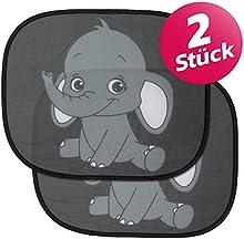 Parasol para coche para bebés y niños, tamañouniversal 44x 36cm para ventana lateral, protección contra rayos UVA y el calor, fácil de colocar
