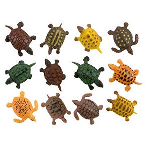 BIEE,Schildkröte Aufstellfiguren Tierfigur Miniblings Gummi Reptil Turtle(12 PCS)