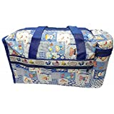 C2C Large Multipurpose Waterproof Baby Diaper Bag For Mothers With Bottle Warmer And Baby Travel Bag In Blue-708