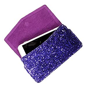 DooDa PU Leather Case Cover For Karbonn Android One Sparkle V Blue