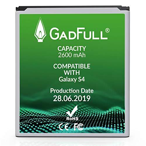 GadFull Batería de reemplazo para Samsung Galaxy S4 | 2019 Fecha de producción | Corresponde al Original EB-B600BE | Compatible con Galaxy S4 i9500 | LTE i9505 batería de Repuesto
