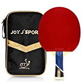 Joy.J Raquette de Tennis de Table Professionnelle avec étui, Approuvé par ITTF Pingpong Raquette Paddle avec...