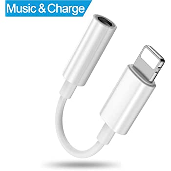 Luvfun Phone Adapter, [1-Pack] Phone auf 3,5 mm -Weiß