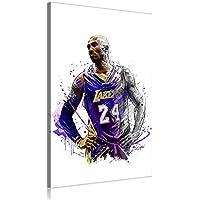NBA Kobe Bryant Canvas Art Prints Poster Baloncesto Obra para La Decoración del Hogar De Oficina (Prints-14,60x90cm)