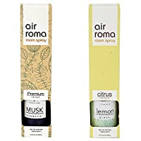 AirRoma Combo of Musk Fragrance Air Freshener Spray 200 ml & Lemon Grass Fragrance Air Freshener Spray 200 ml