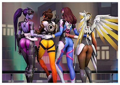 Poster Overwatch - D.Va Mercy Tracer Widowmaker A3 (42x30 cm)