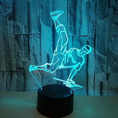 HipHop Hologramm 3d Lampe Nachttischlampe, Nachtlicht fürs Kinderzimmer, LED Lampe fürs Wohnzimmer -