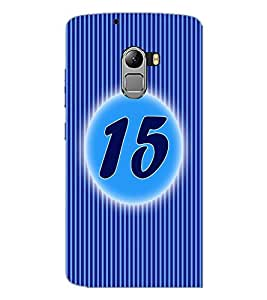 PrintDhaba Numerology Number 15 D-2571 Back Case Cover for LENOVO VIBE X3 LITE (Multi-Coloured)