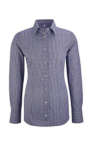 Greiff Damen-Bluse, Regular Fit, SERVICE, 6521 Vichy Karo Blau