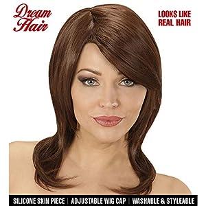WIDMANN 06428peluca Megan marrón en Drea mhair Calidad, mujer, One size