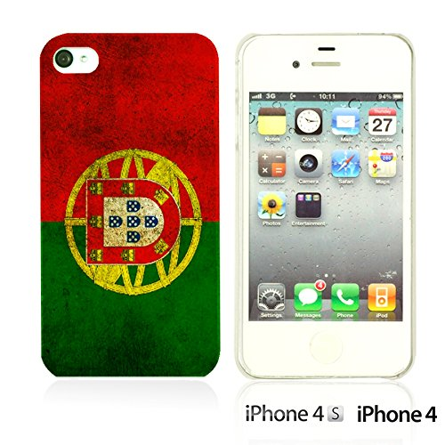 OBiDi - Flag Pattern Hard Back Case / Housse pour Apple iPhone 4S / Apple iPhone 4 - Germany Portugal