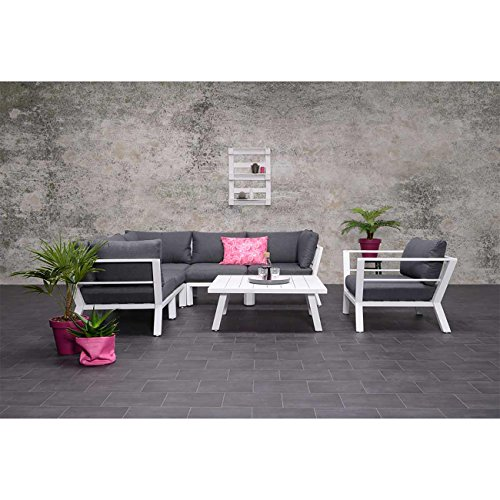 OUTLIV. Outdoormöbel Design Sasha Gartenlounge Set 5tlg Aluminium/Textilene Loungemöbel modern Loungegruppe