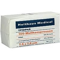 MULLKOMPRESSEN Ypsipad 7,5x7,5 cm unsteril 8fach 100 St Kompressen preisvergleich bei billige-tabletten.eu