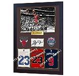 SGH SERVICES Affiche encadrée Michael Jordan Chicago Bulls NBA avec autographe et autographe de Basketball Memorabilia NBA avec Cadre en MDF #10