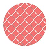 Coral Quatrefoil Pattern Cloth Cover Round Mouse Pad 9.8 X 11.8
