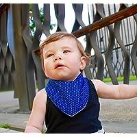 Babero Bandana Azul, Bandana de Algodón ideal para mantener al Bebé seco de las Babitas, Hecho a Mano, Accesorio para Bebé, Complementos para Bebé, Ropa de Bebé