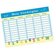 A4 Stundenplan Schulkind blau