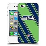 Official NFL Stripes 2017/18 Seattle Seahawks Hard Back Case for Apple iPhone 4 / 4S