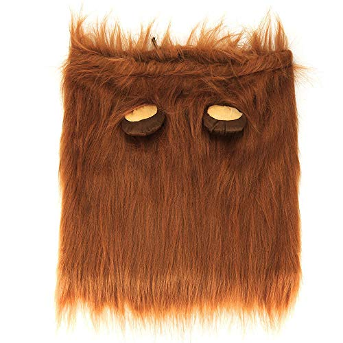 CAOQAO Costume pour Chien Lion Wigs Mane Hair Festival Party Fancy Dress Clothes Costume Lion Mane Perruque pour Chien ou Chat avec Oreilles Cosplay Costume pour Noël Easter Festival Party Café M