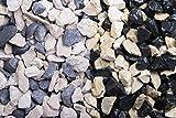 Der Naturstein Garten 250 kg Edelsplitt-Mix beige-schwarz 8-16 mm Big Bag - Lieferung KOSTENLOS