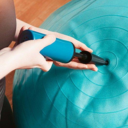 Gymnastik-Ball »Pluto« / Robuster Sitzball und Fitnessball / 65 cm / türkis - 3